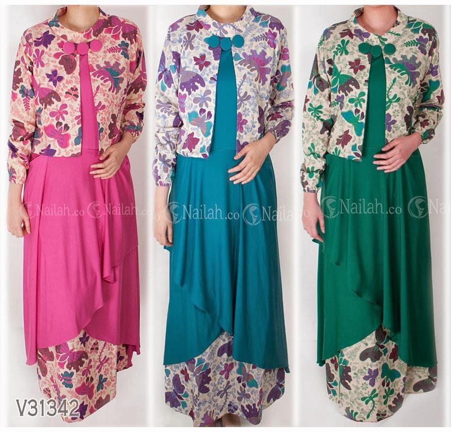 Contoh Baju Batik Muslim Trendy Dan Terbaru Pipitningtyas